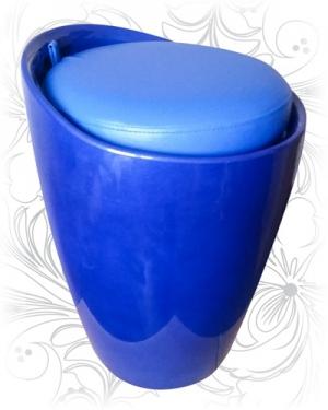 Табурет 1100 синий с местом для хранения