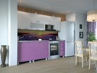 Кухня Мадена Бело-фиолетовый глянец