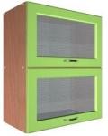 Шкаф В-600 глянец 2 газ и 2 стекла Размер 600x300x720
