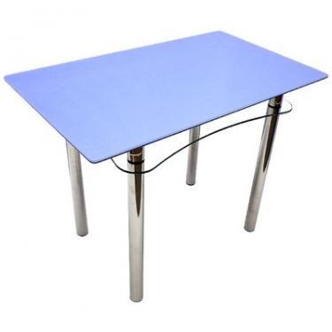 Стол из стекла Ян-1 ТрД-Б (металлик синий)