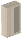 Шкаф БИЗ-13 2-дверный с зеркалом