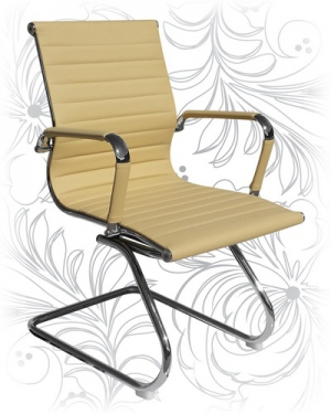 Офисное кресло для посетителей LMR-102N бежевоев