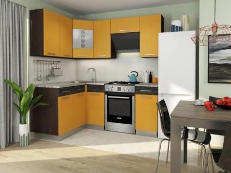 Кухня Алиса-11 угловая Венге/Манго