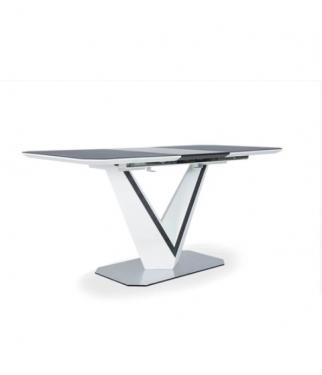 Стол Марго 120(160)*80 керамический серый