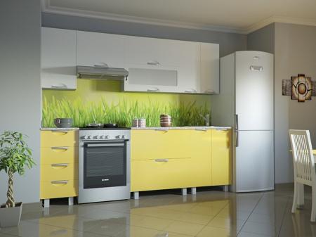 Кухонный гарнитур Мадена Бело-желтый глянец