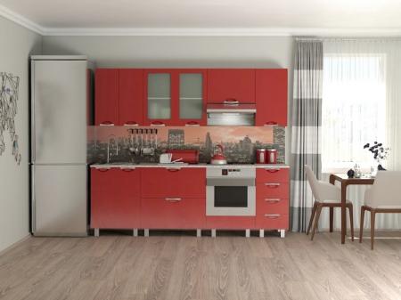 Кухонный гарнитур Мадена Красный глянец