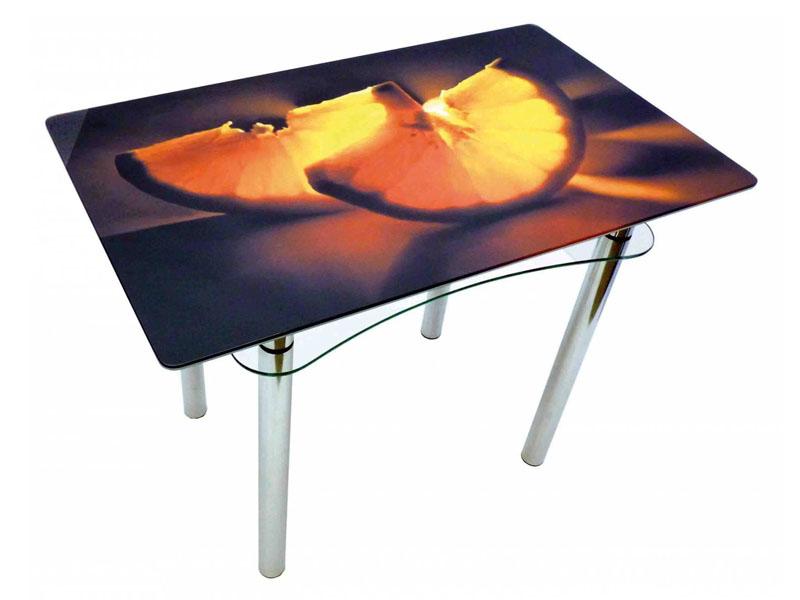 Кухонные столы с рисунком из стекла
