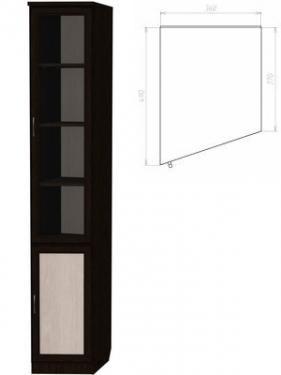 Шкаф для книг (консоль левая) 201
