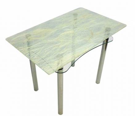 Стол из стекла Ян-1 ТрДо-Б(солома)