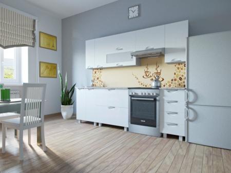 Кухонный гарнитур Мадена Белый глянец