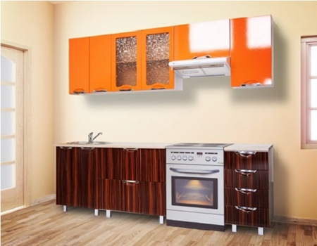 Кухонный магазин Мадена Оранж-зебрано глянец